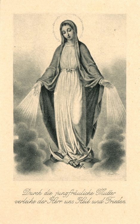 Austrian image of Our Lady of the Miraculous Medal