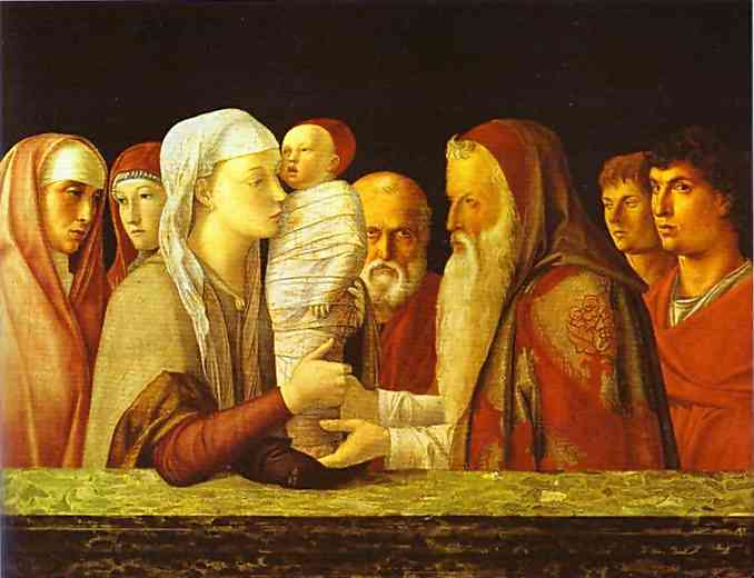 Presentation of Jesus at the Temple bellini