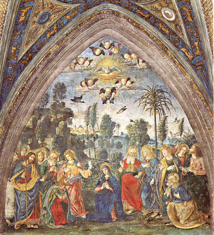 pinturicchio-Descent of the Holy Spirit