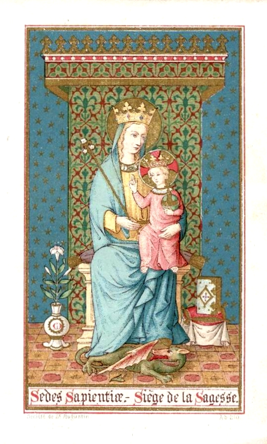 9th century Belgian image of Mary as the Seat of Wisdom