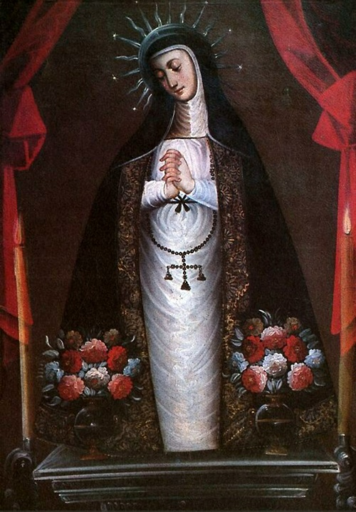 colonial painting from Chile of Our Lady of Solitude