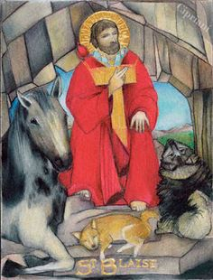 St. Blaise -Patron Saint of Throat Ailments, Veterinarians, and Wild Animals