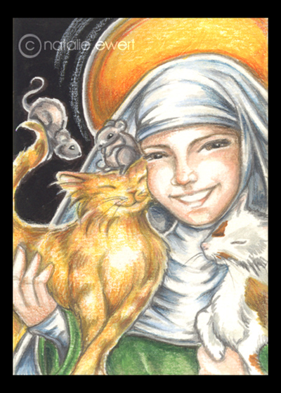 St_Gertrude_And_Cats_by_natamon
