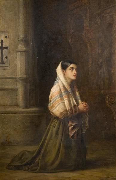 At Prayer by Edwin Longsden 1g
